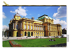 The Croatian National Theater In Zagreb, Croatia Carry-all Pouch