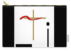 Carry-all Pouch featuring the mixed media The Cross by Jessica Eli