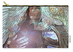 Carry-all Pouch featuring the painting The Cross by Suzanne Silvir