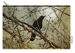 The Crow And The Moon Carry-all Pouch by Theresa Tahara