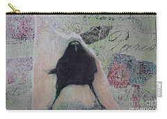 Carry-all Pouch featuring the painting The Crow Called The Raven Black by Kim Nelson