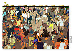 Carry-all Pouch featuring the painting The Crowd by David Lee Thompson