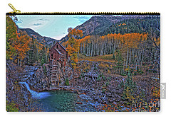 Carry-all Pouch featuring the photograph The Crystal Mill by Scott Mahon
