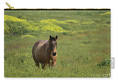 The Curious Working Horse Carry-all Pouch