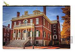 Carry-all Pouch featuring the photograph The Custom House Salem Massachusetts  by Carol Japp