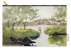 Carry-all Pouch featuring the painting The Cut by Kris Parins