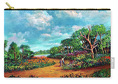 Carry-all Pouch featuring the painting The Cycle Of Life by Randol Burns