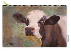 Carry-all Pouch featuring the mixed media The Dairy Queen by Colleen Taylor