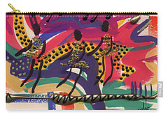 Carry-all Pouch featuring the mixed media The Dancers by Angela L Walker