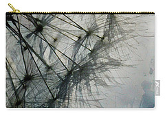 Carry-all Pouch featuring the digital art The Dandelion Silhouette by Steve Taylor