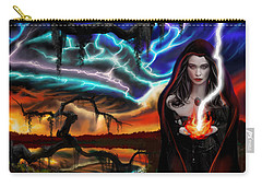The Dark Caster Calls The Storm Carry-all Pouch by James Christopher Hill