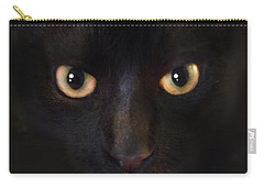Carry-all Pouch featuring the photograph The Dark Cat by Gina Dsgn