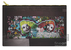 Carry-all Pouch featuring the photograph The Dark Side -  Graffiti by Colleen Kammerer