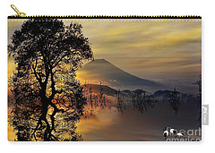 Carry-all Pouch featuring the digital art The Days Blank Slate by Chris Armytage