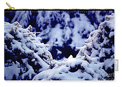 Carry-all Pouch featuring the photograph The Deep Blue - Winter Wonderland In Switzerland by Susanne Van Hulst