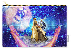 Carry-all Pouch featuring the digital art The Depth Of Gods Love by Dolores Develde