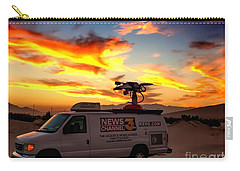Carry-all Pouch featuring the photograph The Deserts News Leader by Chris Tarpening