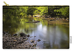 Carry-all Pouch featuring the photograph The Devon River by Jeremy Lavender Photography
