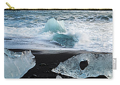 Carry-all Pouch featuring the photograph The Diamond Beach, Jokulsarlon, Iceland by Dubi Roman