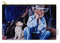 Carry-all Pouch featuring the painting The Dilemma by Hanne Lore Koehler