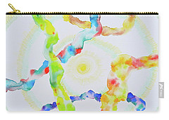 Carry-all Pouch featuring the mixed media The Divine Within by Michele Myers