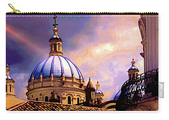The Domes Of Immaculate Conception, Cuenca, Ecuador Carry-all Pouch by Al Bourassa