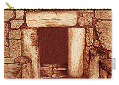 Carry-all Pouch featuring the painting The Door Of Humility At The Church Of The Nativity Bethlehem by Georgeta Blanaru