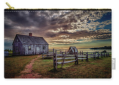 Carry-all Pouch featuring the photograph The Doucet House by Chris Bordeleau