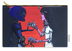 Carry-all Pouch featuring the painting The Downside Of Time Travel by Similar Alien