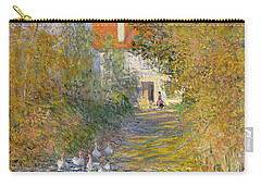 The Duck Pond Carry-all Pouch by Claude Monet