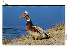 The Duck With The Pillbox Hat Carry-all Pouch