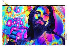 The Dude The Big Lebowski Jeff Bridges Carry-all Pouch by Tony Rubino