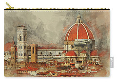 Carry-all Pouch featuring the photograph The Duomo Florence by Brian Tarr