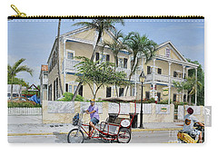 Carry-all Pouch featuring the painting The Duval House, Key West, Florida by Bob George