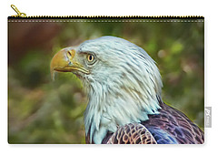 Carry-all Pouch featuring the photograph The Eagle Look by Hanny Heim