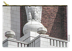Carry-all Pouch featuring the photograph The Eagle On The United States Custom House Philadelphia Pennsyl by Bill Cannon