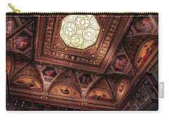 Carry-all Pouch featuring the photograph The East Room Ceiling by Jessica Jenney