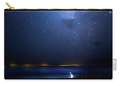 Carry-all Pouch featuring the photograph The Egret And The Milky Way by Mark Andrew Thomas