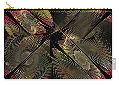 Carry-all Pouch featuring the digital art The Elementals - Calling The Corners by NirvanaBlues