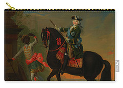Carry-all Pouch featuring the painting The Empress Elizabeth Of Russia by Georg Grooth