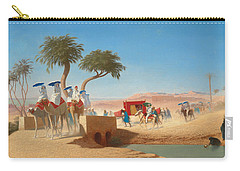 The Empress Eugenie Visiting The Pyramids Carry-all Pouch by Charles Theodore Frere