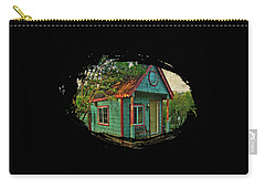 Carry-all Pouch featuring the photograph The Enchanted Garden Shed by Thom Zehrfeld