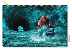 Carry-all Pouch featuring the digital art The Eternal Ballad Of The Sea by Olga Hamilton