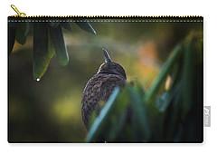 The Eurasian Blackbird Female In Spring Morning Carry-all Pouch