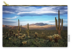 Carry-all Pouch featuring the photograph The Evening Glow  by Saija Lehtonen