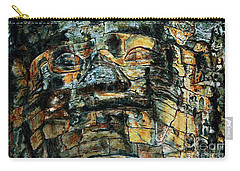 Carry-all Pouch featuring the painting The Face Of The Buddha by Joey Agbayani