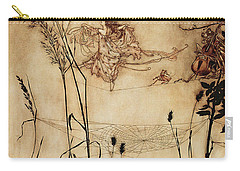 The Fairy's Tightrope From Peter Pan In Kensington Gardens Carry-all Pouch by Arthur Rackham