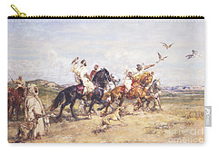 The Falcon Chase Carry-all Pouch by Henri Emilien Rousseau