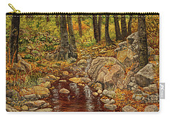 Carry-all Pouch featuring the painting The Fall Stream by Roena King