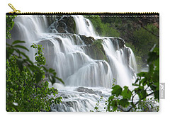 Carry-all Pouch featuring the photograph The Falls by DeeLon Merritt